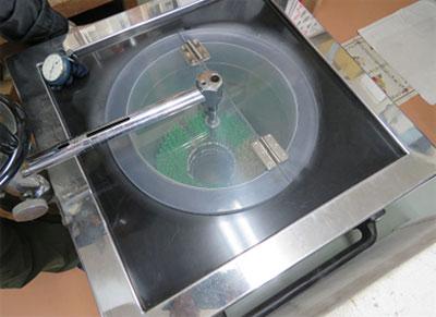液体窒素冷凍加速作業